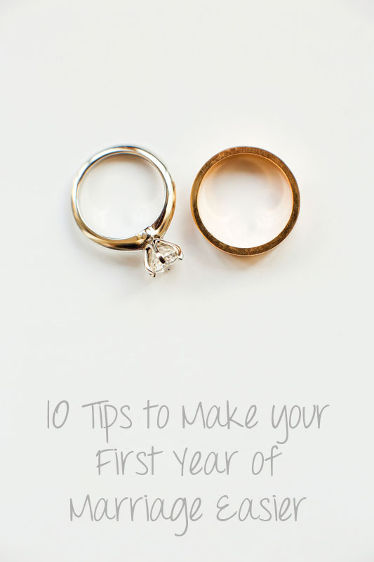 10 Tips to Make your First Year of Marriage Easier