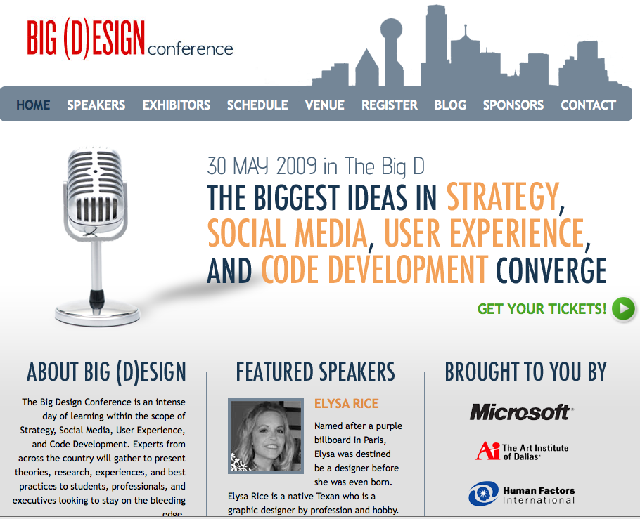 Elysa of Genpink :: Featured Speaker at Big Design Conference Dallas