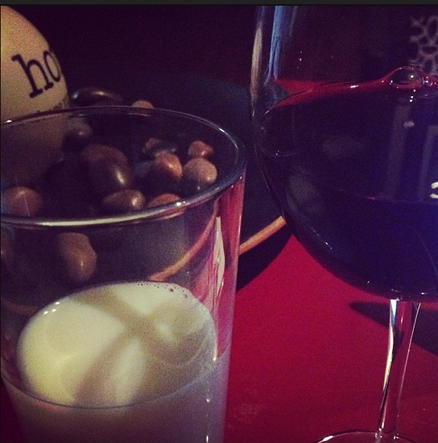 milk and wine. his and hers.