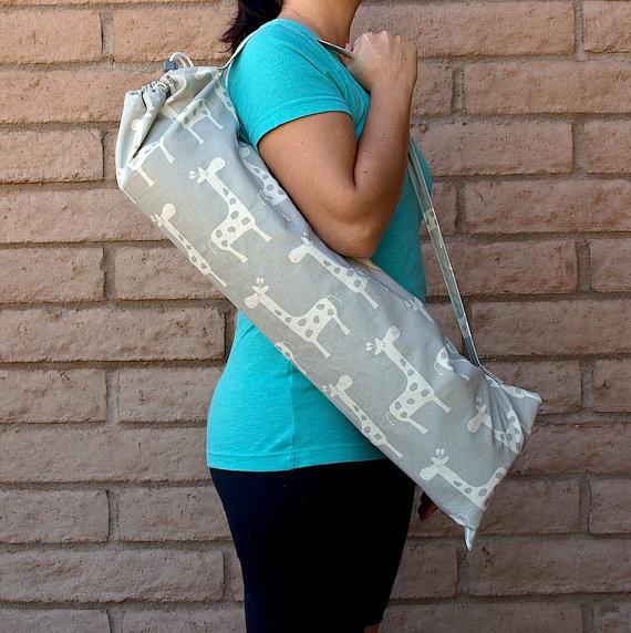 stylish giraffe yoga bag plus more gym bags and yoga mats