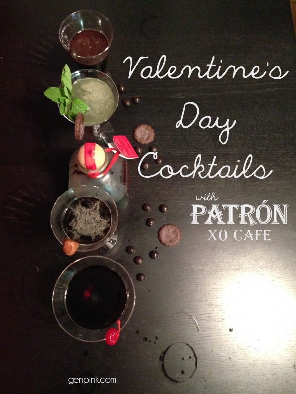 Valentine's Day Cocktails with Patron XO Cafe Dark Cocoa